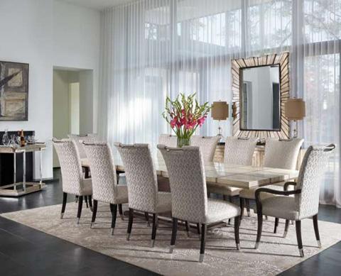 Marge Carson - Malibu Rectangular Dining Table - MLB21