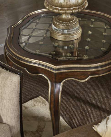 Marge Carson - Cross Channel End Table - CRC04