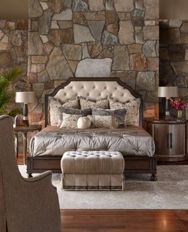 Marge Carson - Cross Channel Traditional Panel Bed - CRC11-2