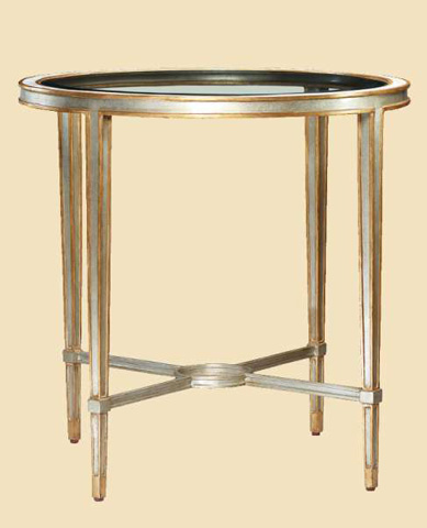 Marge Carson - Redondo Round End Table - RED04