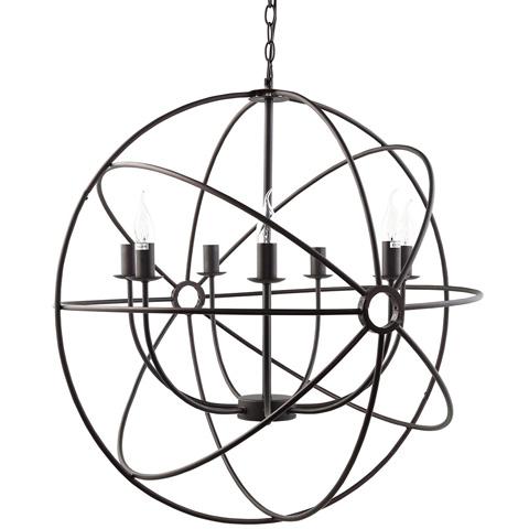 Modway Furniture - Atom Chandelier in Black - EEI-1550