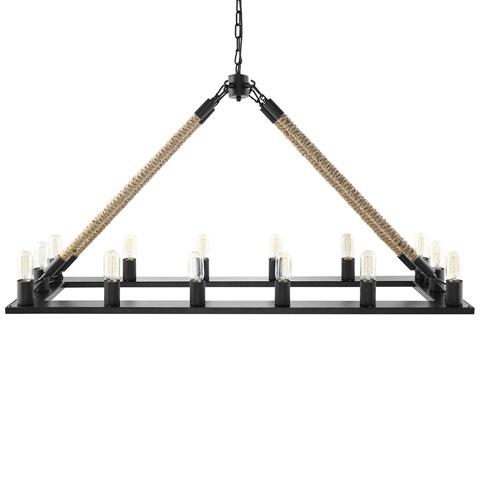 Modway Furniture - Bridge Chandelier in Black - EEI-1573
