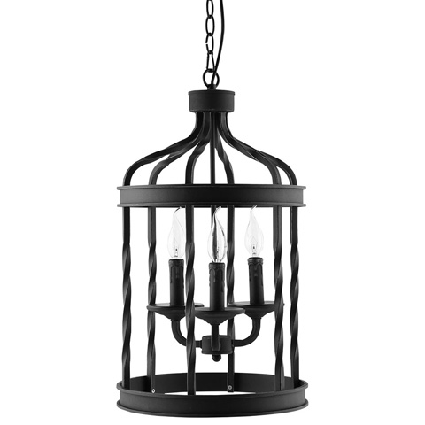Modway Furniture - Lantern Metal Chandelier in Black - EEI-1584