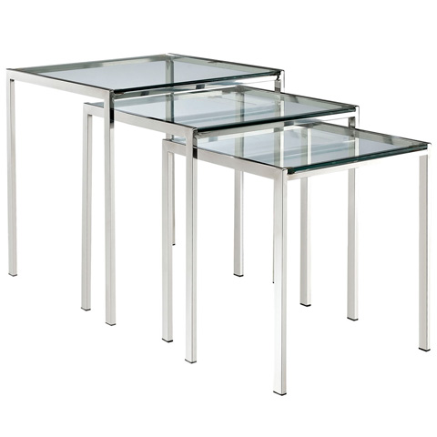 Modway Furniture - Nimble Nesting Table in Silver - EEI-257