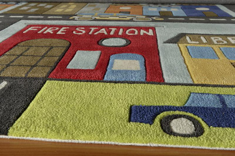 Momeni - Lil Mo Whimsy Town Rug - LMJ-12 TOWN SCENE TOWN