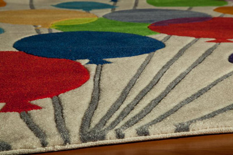 Momeni - Lil Mo Whimsy Rug in Multi - LMJ-16 BALLOONS MULTI BALLOONS