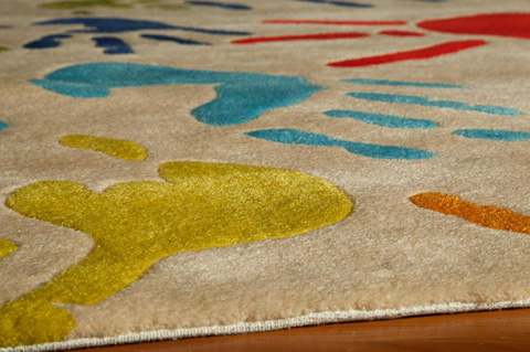 Momeni - Lil Mo Whimsy Rug in Ivory - LMJ-17 FINGER PAINT IVORY
