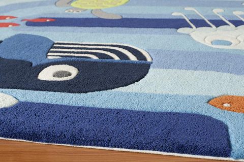 Momeni - Lil Mo Whimsy Rug in Blue - LMJ-21 OCEAN LIFE BLUE