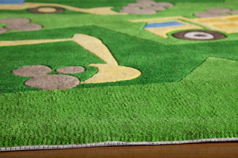 Momeni - Lil Mo Whimsy Rug in Green - LMJ-24 CONSTRUCTION GREEN