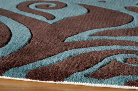 Momeni - New Wave Rug in Turquoise - NW-088 TURQUOISE