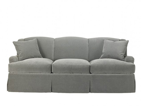 Mr. and Mrs. Howard by Sherrill Furniture - Winged Skirted Sofa - H905S