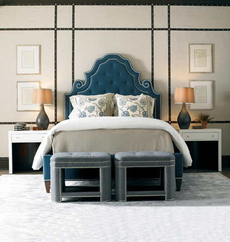 Mr. and Mrs. Howard by Sherrill Furniture - Shelter Island King Upholstered Bed - MH11524