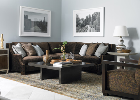 Mr. and Mrs. Howard by Sherrill Furniture - Manhattan Sectional - H781LN/H781RL