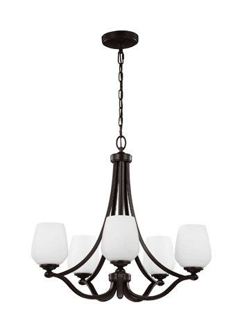 Feiss - Five - Light Chandelier in Heritage Bronze - F2960/5HTBZ