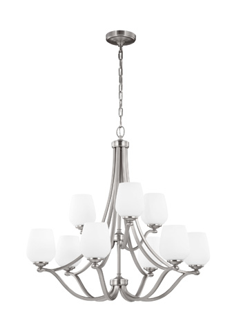 Feiss - Nine - Light Chandelier - F2961/6+3SN