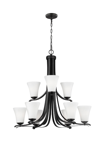 Feiss - Nine - Light Chandelier - F2980/9ORB