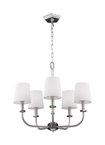 Feiss - Five - Light Chandelier - F3050/5SN/PN
