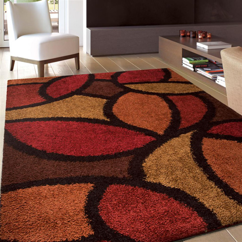 Orian Rugs - Bloom Petal Rouge 5'3