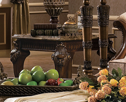 Orleans International - Venice End Table with Marble Top - 4902-008