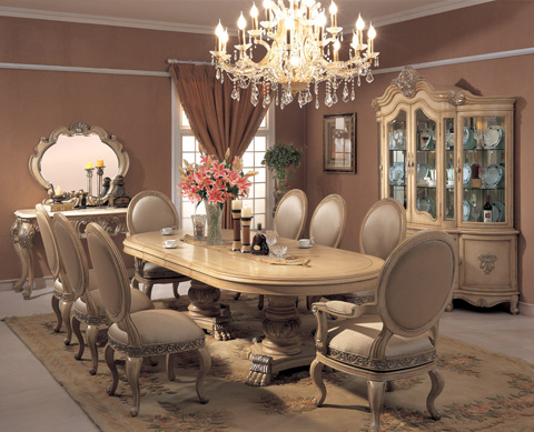 Orleans International - Chardonnay Dining Table - 709-001L