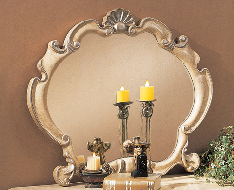 Image of Chardonnay Ribbon Scroll Mirror