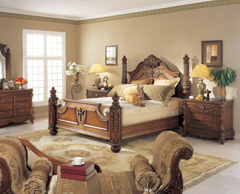 Orleans International - Renaissance King Canopy Bed - 939-001KC