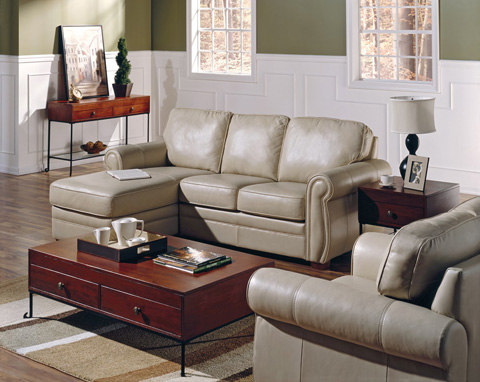 Palliser Furniture - Leather Chair with Ottoman - 77492-04/77492-95