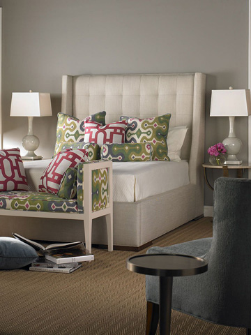 Pearson - Upholstered Wing Queen Bed - 41-60