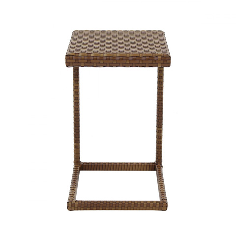 Pelican Reef - St. Barths End Table in Brown Pine Finish - PJO-3001-BRN-ET