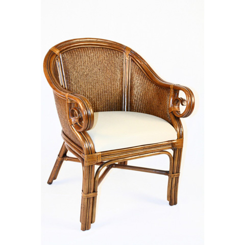 Image of Indoor Rattan and Wicker Club Chair