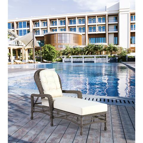 Pelican Reef - Panama Jack Carolina Beach Stackable Chaise Lounge - PJO-1301-GRY-CL