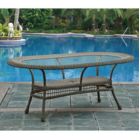 Pelican Reef - Panama Jack Carolina Beach Oval Dining Table - PJO-1301-GRY-OV