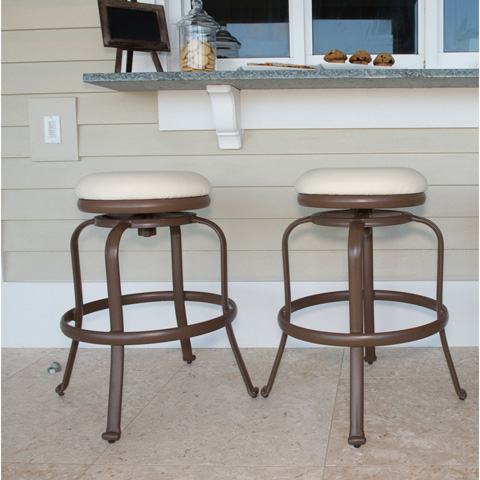 Pelican Reef - Backless Swivel Barstools (Set of 2) - PJO-1401-ESP-BS