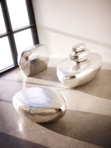 Phillips Collection - River Stone Cocktail Table - PH57484
