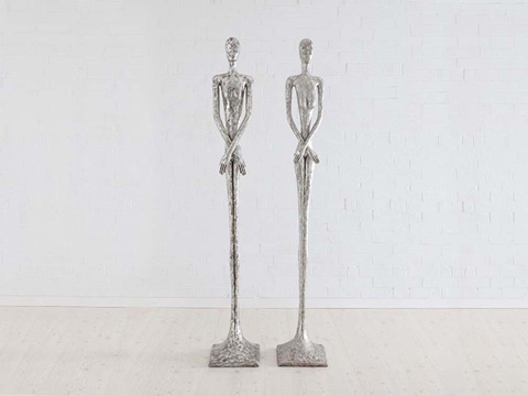 Image of Skinny Female Sculpture in Silver