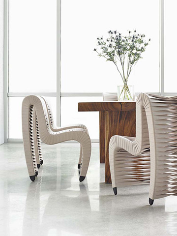 Phillips Collection - Seat Belt Dining Chair in Beige - B2061BE