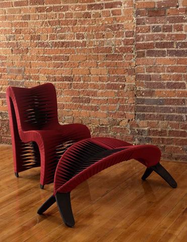 Phillips Collection - Seat Belt Dining Chair in Red - B2062ZZ