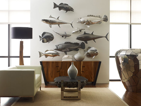 Phillips Collection - Austrialian Batfish in Silver Leaf - PH64557