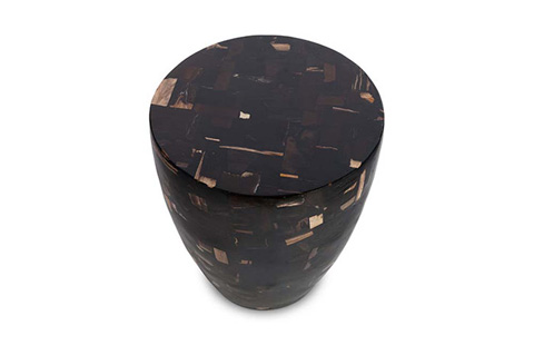 Phillips Collection - Petrified Mosaic Drum Side Table - ID70029