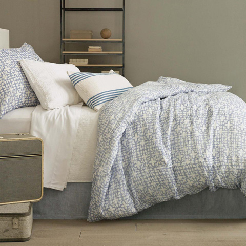 Pine Cone Hill, Inc. - Ibiza French Blue Decorative Pillow - IBFBDPDB