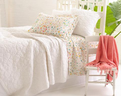 Pine Cone Hill, Inc. - Marina White Quilt - King - Q259WK