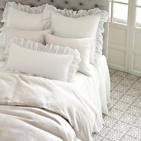 Pine Cone Hill, Inc. - Savannah Linen Gauze White Decorative Pillow - SAWDPDB