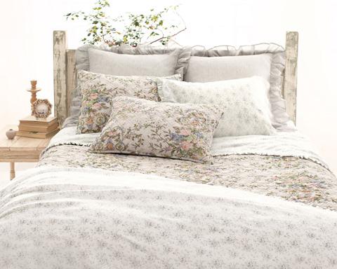 Pine Cone Hill, Inc. - Sweet Roses Grey Sheet Set - King - SRTK