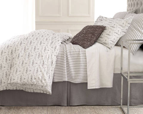 Pine Cone Hill, Inc. - Tiki Toile Grey Duvet Cover - King - TTGDCK