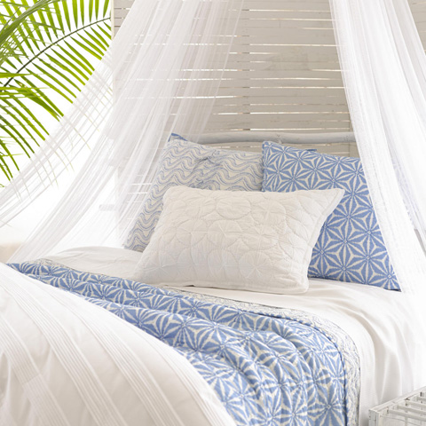 Pine Cone Hill, Inc. - Varkala French Blue Quilted Sham - European - Q258BSE