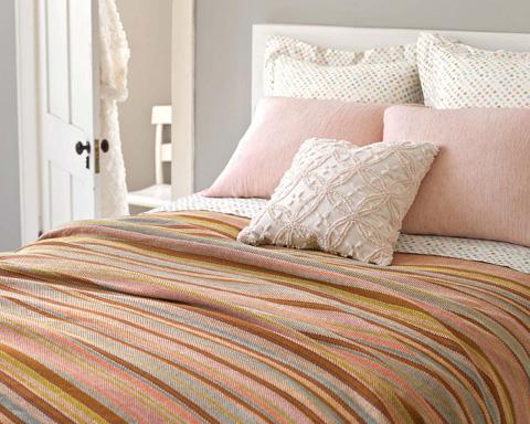 Pine Cone Hill, Inc. - Candlewick Pale Rose Decorative Pillow - CDLPRDP-18