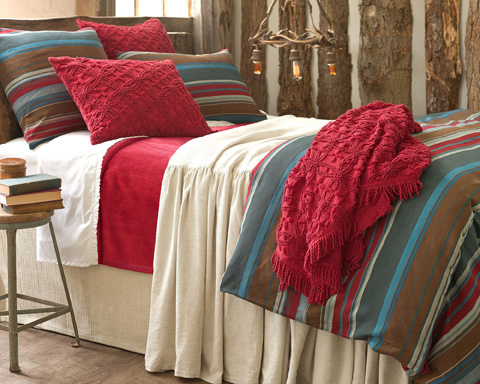 Pine Cone Hill, Inc. - Candlewick Crimson Sham-Standard - CDLRSHS