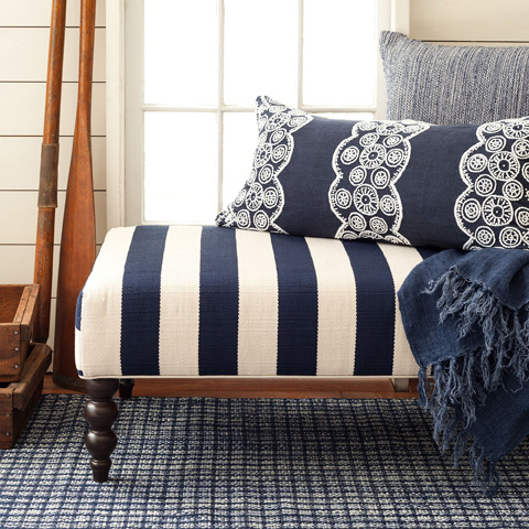 Pine Cone Hill, Inc. - French Knot Indigo Decorative Pillow - FKIDPDB