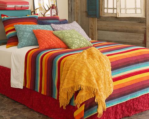 Pine Cone Hill, Inc. - Montego Stripe Multi Blanket in Full/Queen - MSMQ