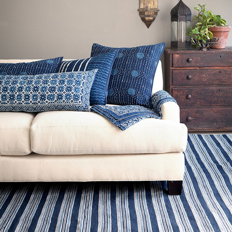 Pine Cone Hill, Inc. - Resist Octagon Indigo Throw - ROITH